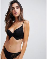 32f04e9d53 ASOS - Kate Lace Longline Padded Underwire Bra - Lyst