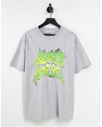 Weekday - Camiseta extragrande con estampado - Lyst