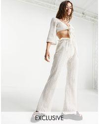 Reclaimed (vintage) Pantalones - Blanco