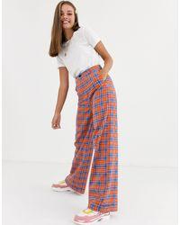 Daisy Street Wide Leg Trousers - Multicolour