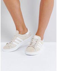 adidas Originals - Originals Campus Trainer In Cream - Lyst