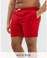 ASOS Plus Swim Shorts - Red