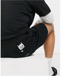 RIPNDIP Ripndip Peeking Nermal Sweat Shorts - Black