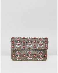 Park Lane - Handmade Beaded Foldover Clutch Bag - Lyst