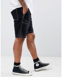 Weekday - Eastside Exposed Stitching Shorts - Lyst