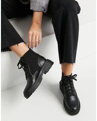 Miss Selfridge Черные Ботинки В Байкерском Стиле -черный Цвет