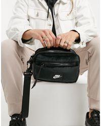 Nike – e Box-Tasche aus Samt - Schwarz