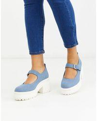 ASOS Shaky Chunky Mary-jane Heels - Blue