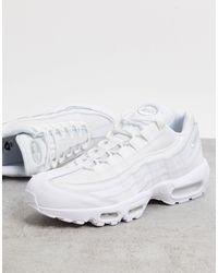 Nike Белые Кроссовки Air Max 95 Essential-белый