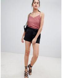 New Look - Tie Waist Shorts - Lyst
