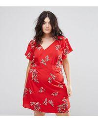 AX Paris - Floral Wrap Dress - Lyst
