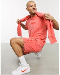 Nike – Just Do It – Verwaschene Shorts - Rot