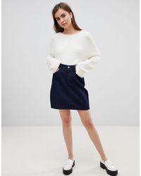 Dr. Denim Denim Mini Skirt - Blue