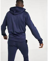 Tommy Hilfiger Худи На Молнии С Вертикальным Логотипом Sport-темно-синий - Белый