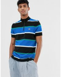 04bed307 Lacoste L!ive - Lacoste L!ve X Opening Ceremony Stripe Zip Polo In