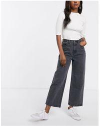 Monki Mozik Wide Leg Organic Cotton Jeans - Gray