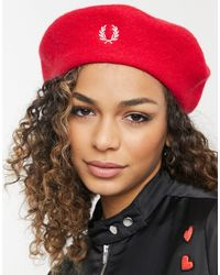 Fred Perry Wool Beret - Red