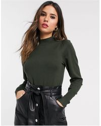 Warehouse Jumper With Puff Sleeves - Green