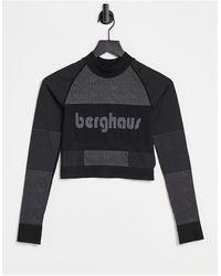 Berghaus Zhora - T-shirt a maniche lunghe nera - Nero