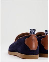 H by Hudson Parker Suede Slip On Shoes - Blue