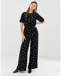 Glamorous Jumpsuit With Tie Front - Black