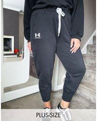 Under Armour Plus Rival Fleece joggers - Black