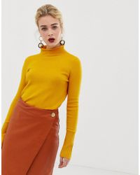 French Connection - Rollneck Ribbed Knit Sweater - Lyst