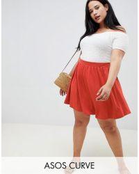 ASOS - Asos Design Curve Mini Skater Skirt - Lyst