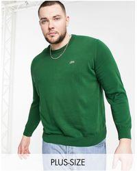 Lacoste Logo Crew Neck Knit Sweater - Green