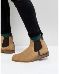 Ted Baker - Bronzo Suede Chelsea Boots In Stone - Lyst