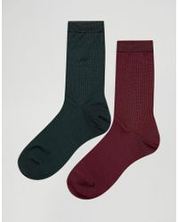 Pieces - 2 Pack Socks - Lyst