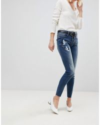 B.Young - Embroidered Jeans - Lyst