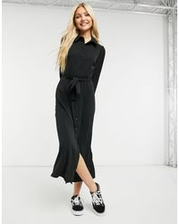 New Look Belted Midaxi Shirt Dress - Black