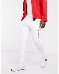 Tommy Hilfiger Logo Cuffed Lounge joggers - White