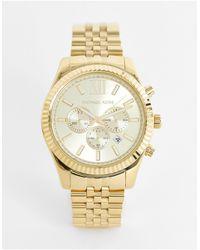 Michael Kors Mk8281 Lexington Gold Chronograph Watch - Metallic
