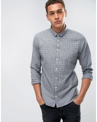 Casual Friday | Shirt Windowpane Checked Shirt In Regular Fit | Lyst