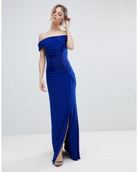 Coast Shay Slinky Jersey Bardot Maxi Dress - Blue