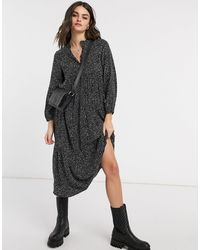 Whistles – Enora – Kleid mit Freckle-Print - Grün