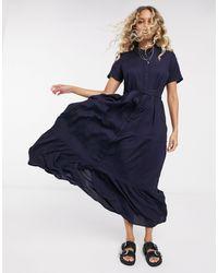 Vero Moda Midaxi Shirt Dress - Blue
