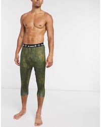 Planks Fall-line Base Layer 3/4 Pants - Green