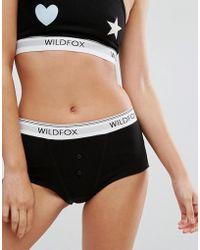 Wildfox - Logo Tom Boy Brief - Lyst
