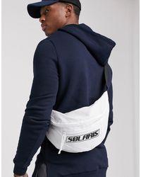 ASOS Large Cross Body Bum Bag - White