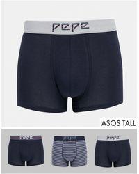 Pepe Jeans Holgate 3 Pack Trunks - Blue