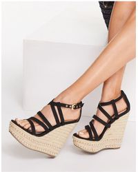 Miss Selfridge Wendi High Wedge Shoe - Black