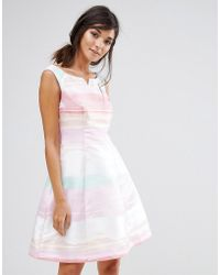 Coast - Rainbow Stripe Millana Dress - Lyst