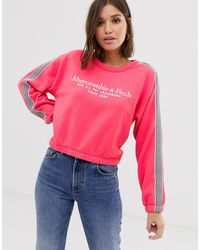 Abercrombie & Fitch Relaxed Sweatshirt - Pink