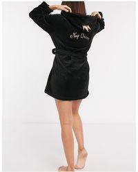 Brave Soul Nap Queen Dressing Gown - Black
