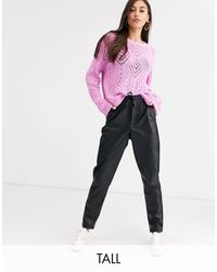 New Look Leather Look jogger - Black