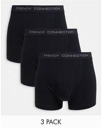 French Connection Lot de 3 boxers - Noir