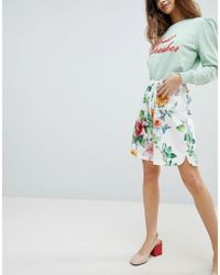 Soaked In Luxury - Floral Longline Shorts - Lyst